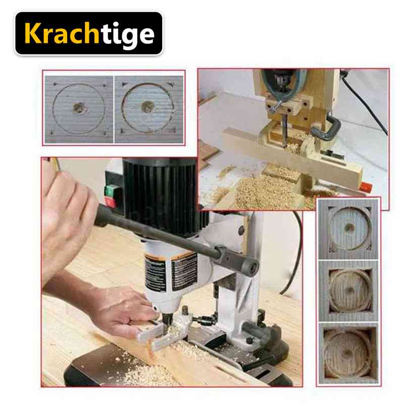 Krachtige 4Pcs Square Hole Mortising Chisel Extended Saw Drill Bits Set - Discount Storehouse