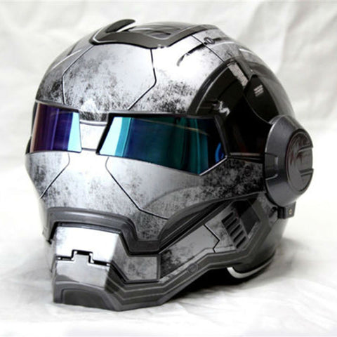 Gray  Iron Man helmet - Discount Storehouse