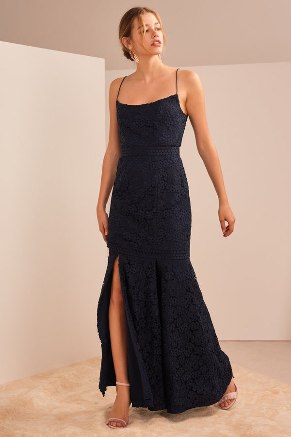 Utopia lace gown navy
