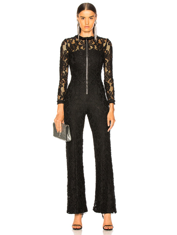 EMAYA JUMPSUIT BLACK LACE