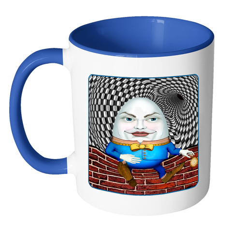 portrait of humpty dumpty - 11 oz color accent mug