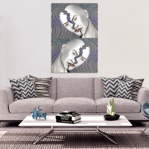cracked until coffee - canvas wall art