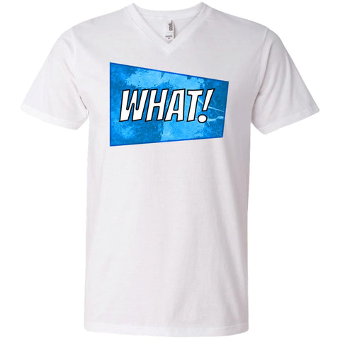 what! - Men's V-Neck T-Shirt