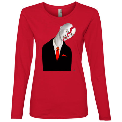 Cracked Up - Women's Long Sleeve Lightweight T-Shirt