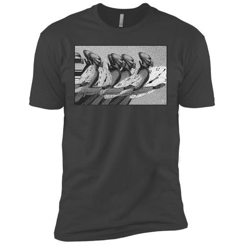 Time Marching On - B&W - Men's Premium Fitted T-Shirt