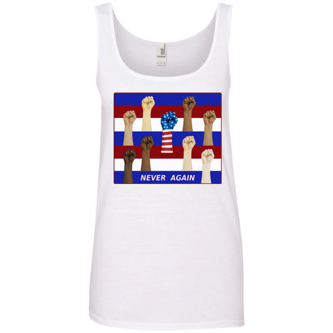 never again - Women's Cotton Tank Top