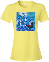 blue daisies - Women's Fitted T-Shirt