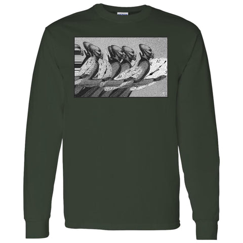 Time Marching On - B&W - Men's Long Sleeve T-Shirt
