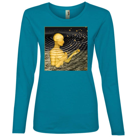 Ripples In The Multiverse - Women's Long Sleeve Lightweight T-Shirt