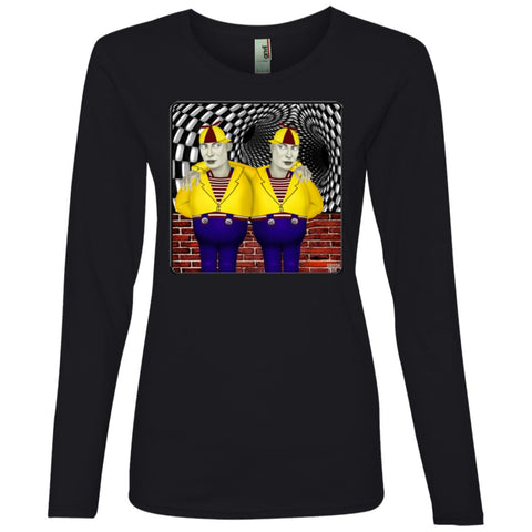 portrait of tweedledee and dum - Women's Long Sleeve T-Shirt