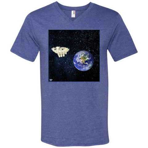 somewhere out there - Men's V-Neck T-Shirt