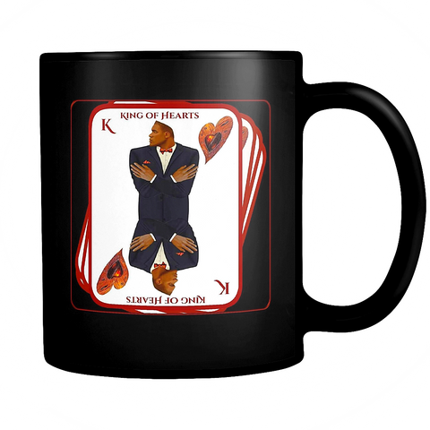 king of hearts - classic black mug
