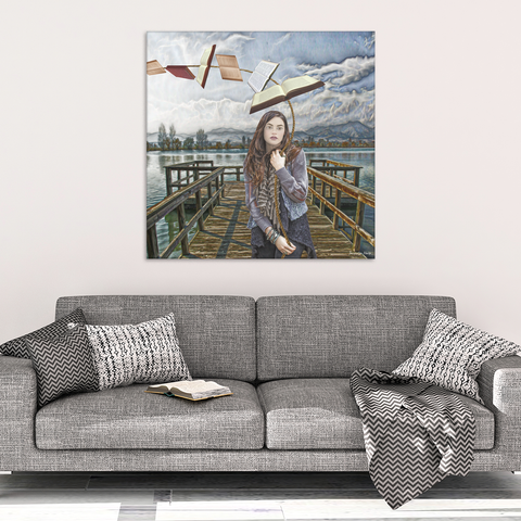 high on books - canvas wall art