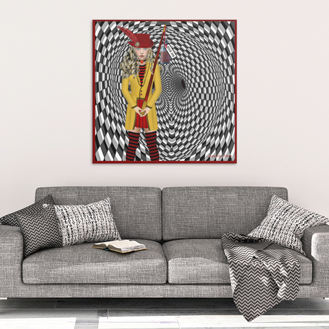 portrait of alice - canvas wall art