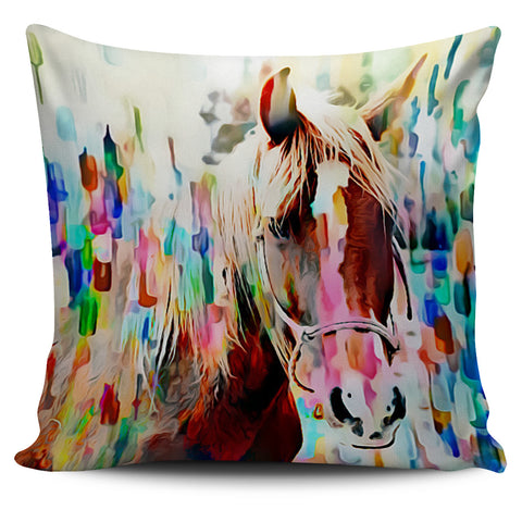Art Horse Pillow Cover