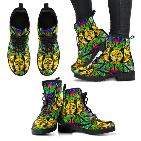 HandCrafted Spirited Sun and Moon Boots