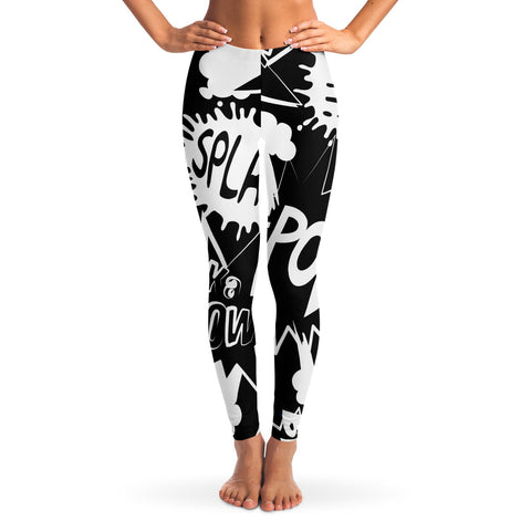 Black and White Comic Leggings