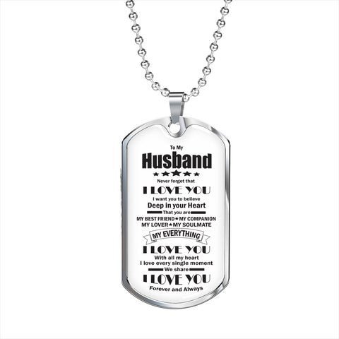 To My Husband Dog Tag