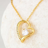 Without You I'm Nothing Heart Necklace