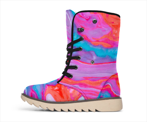 Exclusive Purple and Pink swirl Polar boots