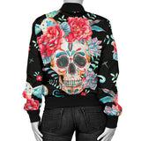 Flower Skull Women's Bomber Jacket