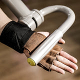 Leather Weight Lifting Gloves with Wrist Wraps