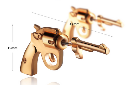 I Sellum Online Revolver pistol Shaped earrings