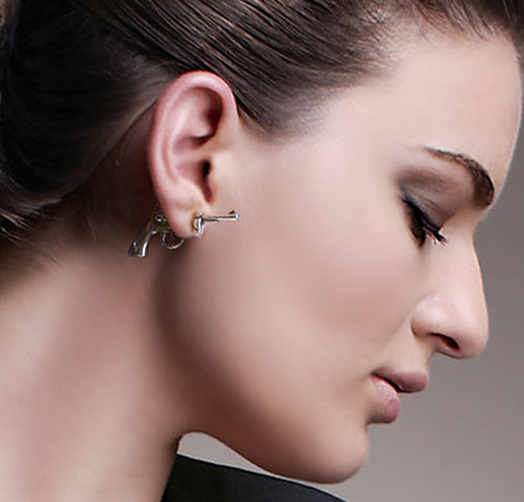Pistol shaped earrings at https://isellumonline.com/collections/earrings