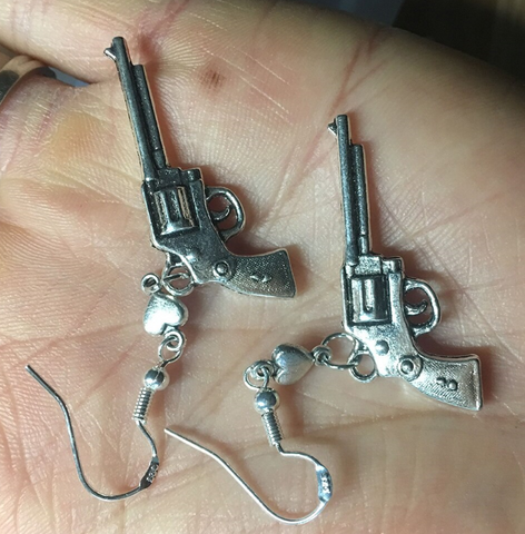 Isellumonline.com dangle revolver with sterling silver hook