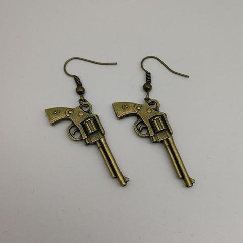 isellumonline.com Dangle Revolver shaped earrings