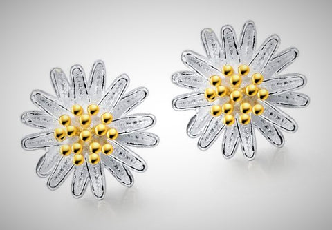 isellumonline.com 925 Sterling Silver Sunflower Earrings