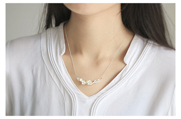 Sterling Flower Necklace - I Sellum Online