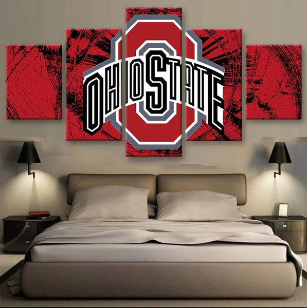 5 pcs Ohio State Canvas Wall Art