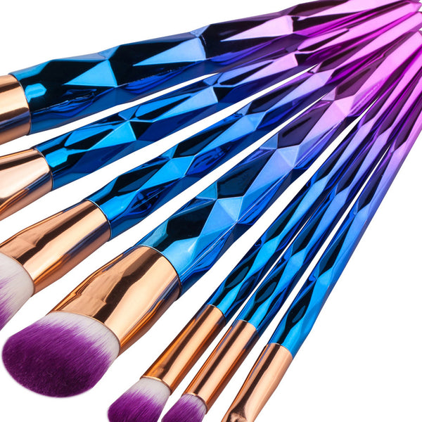 7 Piece Unicorn Makeup Brushes