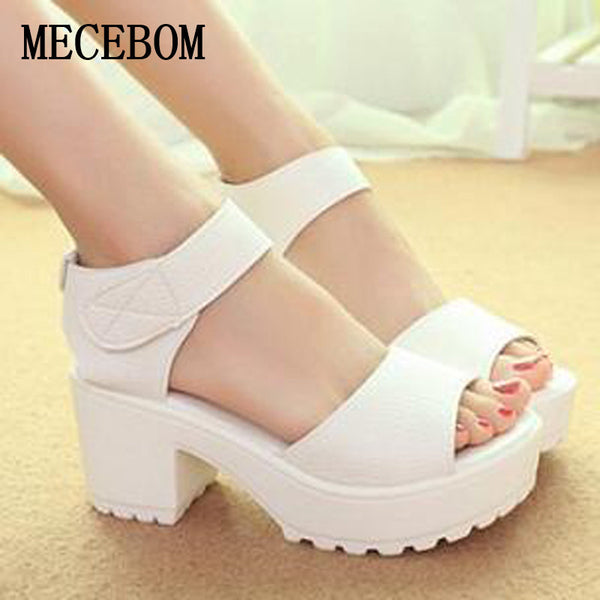 2017 New Platform Summer Pep-toe Woman Sandals