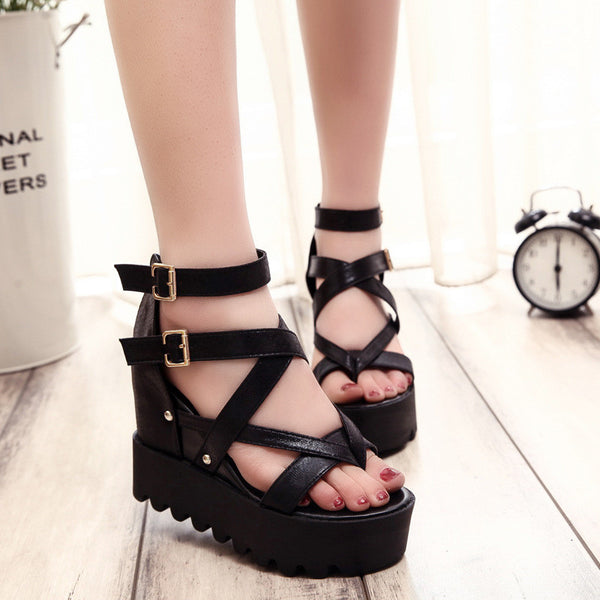 Woman's Open-Toe Platform Wedge Sandals
