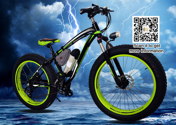 "26"" Fat Tire Electric Bicycle 48V lithium battery Shipped from USA"