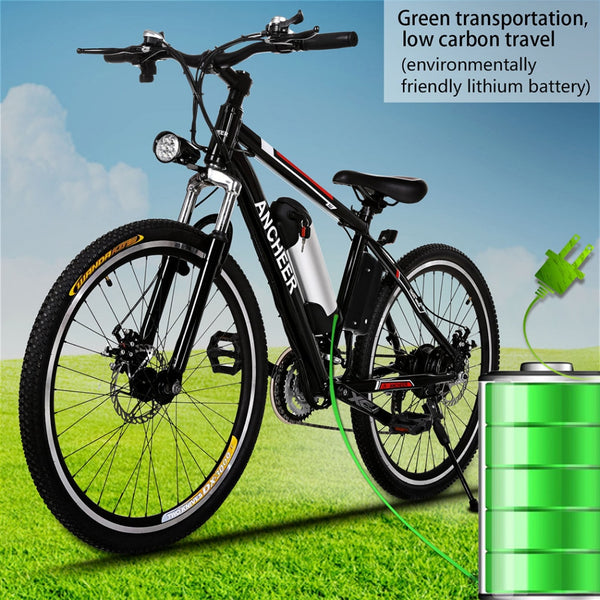 "26 "" 250W 21 Speed Electric Mountain Bike"