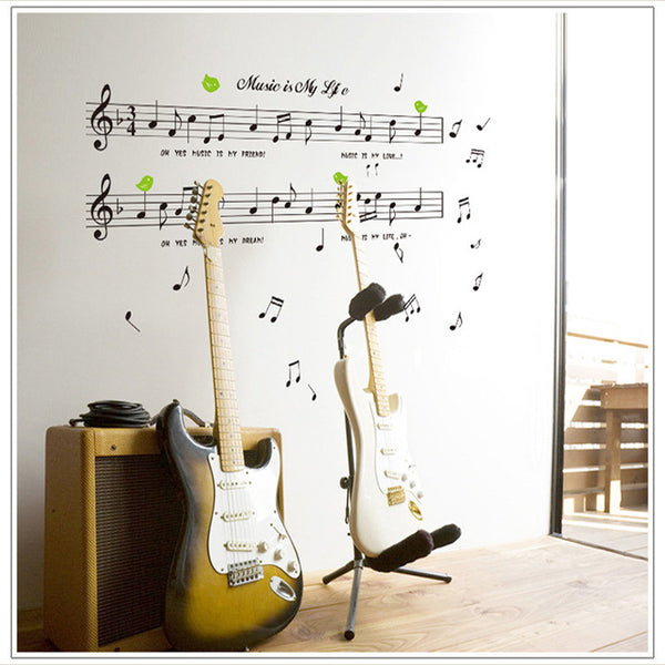 3D Wall Sticker Music Is My Life Theme