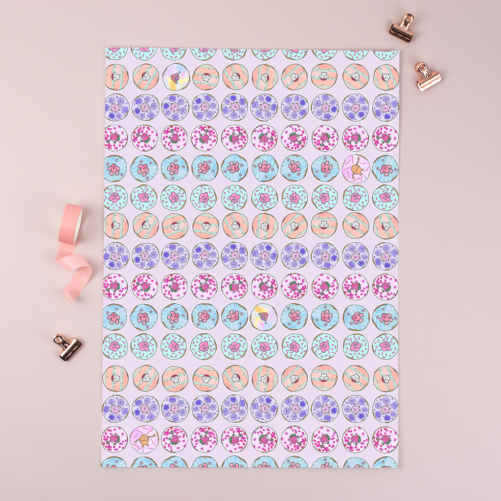 Wrapping paper Donuts