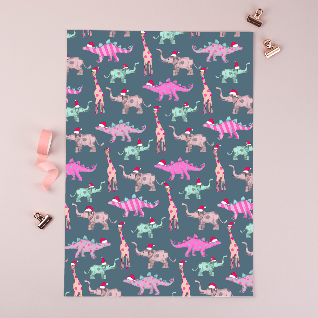 Wrapping paper toy animals