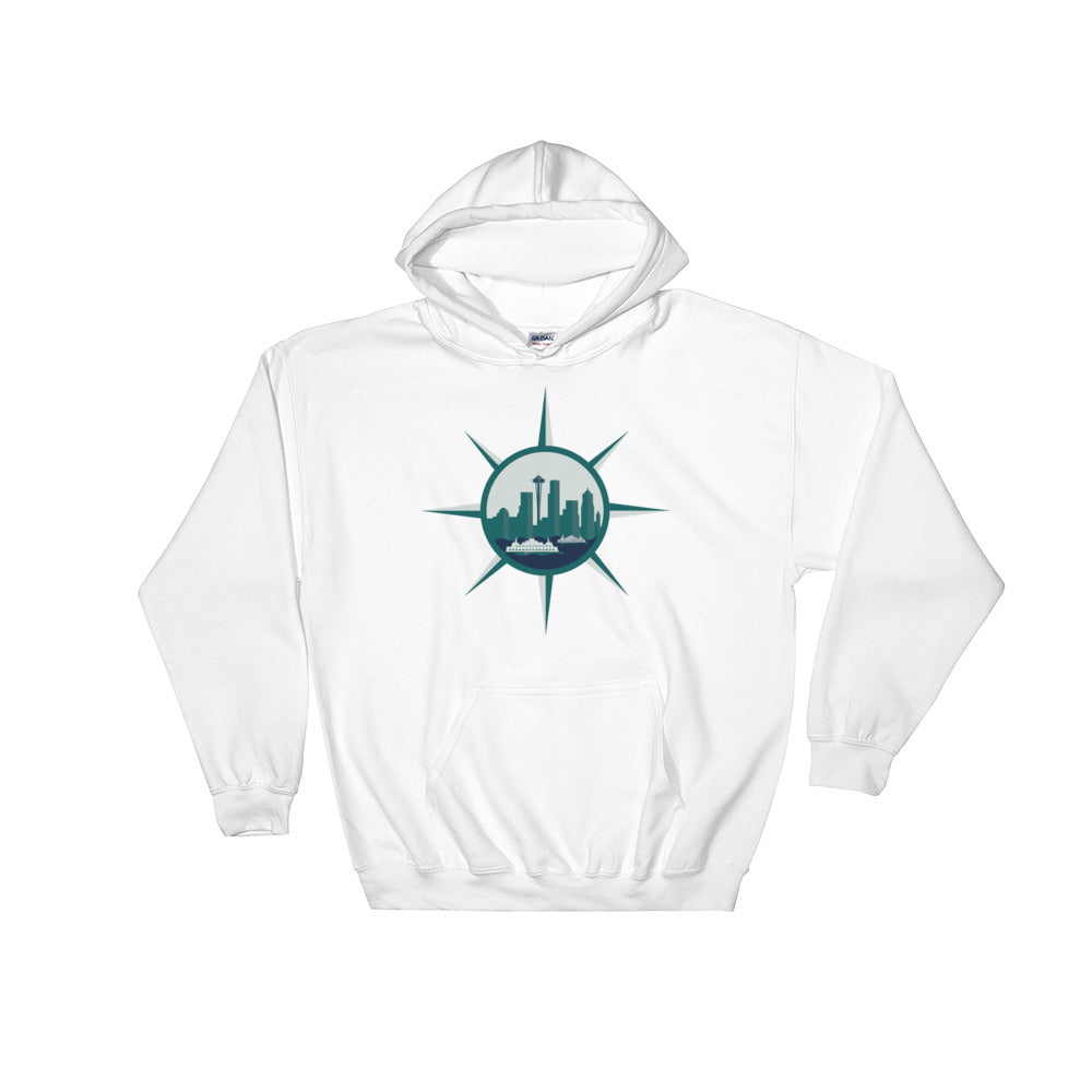 Seattle Compass Hoodie White