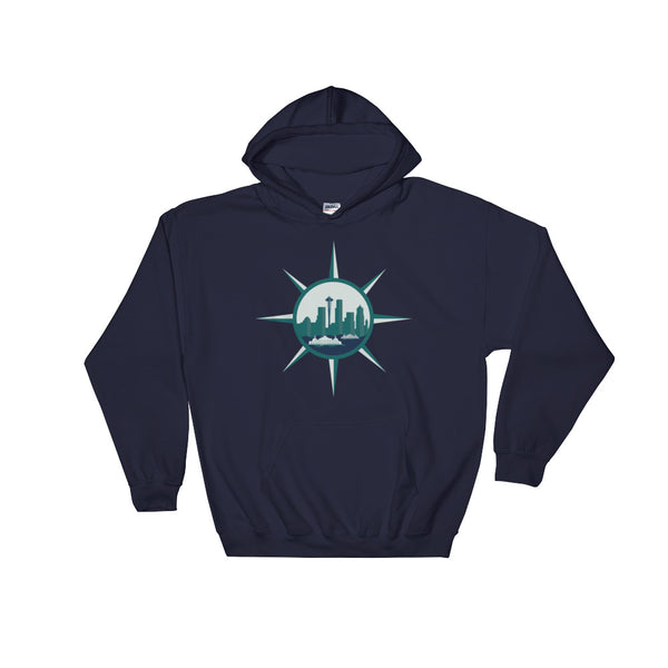 Seattle Compass Hoodie Navy