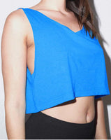 Women's Poly-Cotton Loose Crop Tank Top