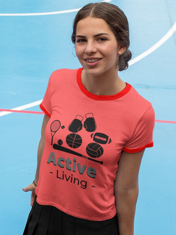 Active Living Ringer T-Shirt
