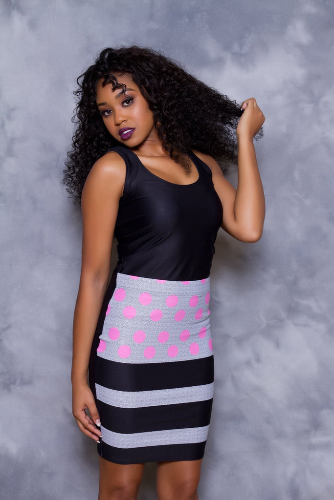 458ef14a95 Polka and Stripes Sublimation Cut & Sew Pencil Skirts – PrivateGarb
