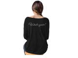 FAV Thing! Bella + Canvas Women's Flowy Long Sleeve Tee with 2x1 Sleeves