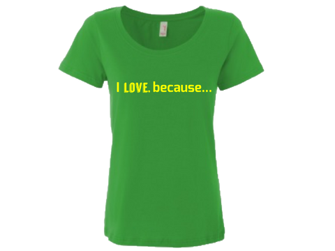 I Love Ladies Sheer Scoopneck T-Shirt