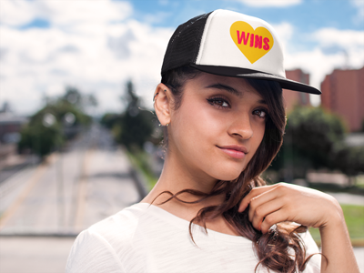 Love Wins Five Panel Trucker Cap