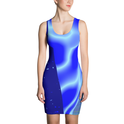 Blue Confusion Sublimation Cut & Sew Dress